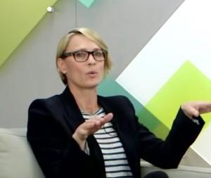 Capture d'écran de la vidéo de l'interview de Robin Wright par la fondation Rockefeller
