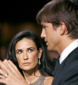 Demi Moore and Ashton Kutcher shown during the annual White House Correspondents' Association gala dinner at the Washington Hilton Hotel, in Washington, DC, USA on May 9, 2009. Photo by Martin Simon/Photolink/ABACAPRESS.COM