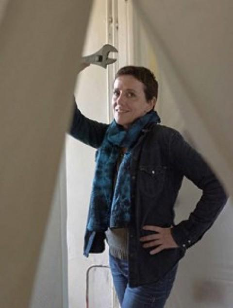 Nathalie Lafoux, artisane plombier carreleur